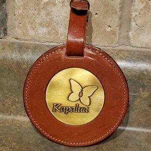 Kapalua Resort Leather Bag Tag